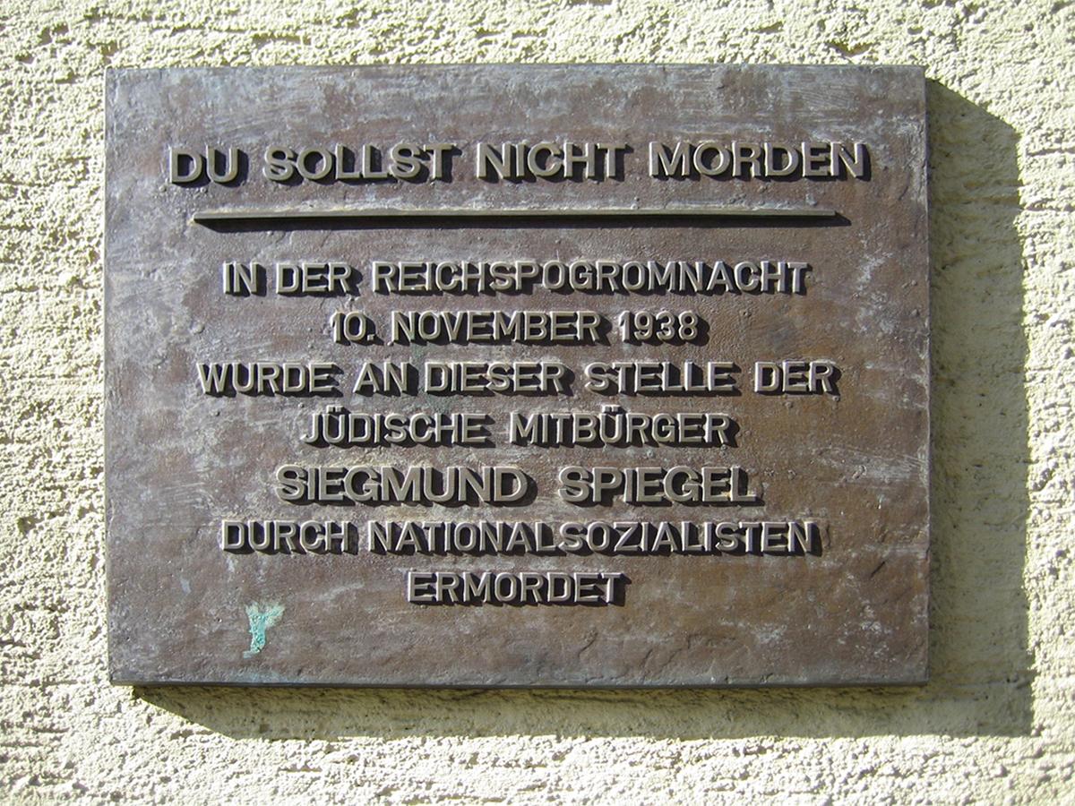 Spiegel Siegmund Gedenkplatte